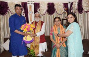Choubey meets Tripura CM